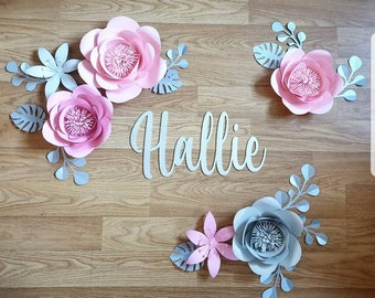 Paper Flowers Wall Decor Etsy