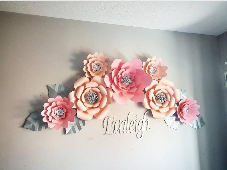 Paper Flowers Paper Flower Bedroom Nursey Decor Girls Paper Flower Bedroom Decorations Paper Flower Arrangement