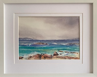 Geographe Bay, South West, Western Australia, Framed Original Watercolour / Watercolor Painting