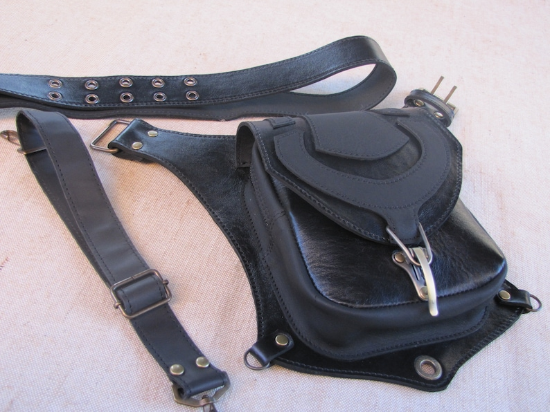 Hip holster leg waist bag leather Thigh purse men Backpack  Leg hip bag Travel bag Biker holster Festival weekend fanny packs women