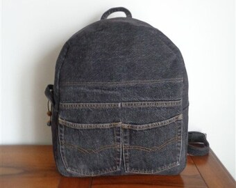 SAC A DOS in recycled denim