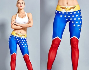 Wonder Woman Workout Leggings for Women High Waisted - WW10003