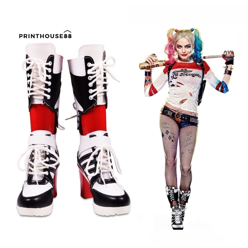 e6e1a3e0fa67 Harley Quinn Shoes Harley Quinn Suicide Squad Boots Harley