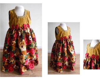 Costume child princess carnival, dress girl flower, costume girl mardi gras