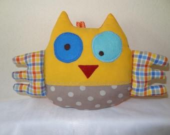 fun colorful cotton OWL blanket