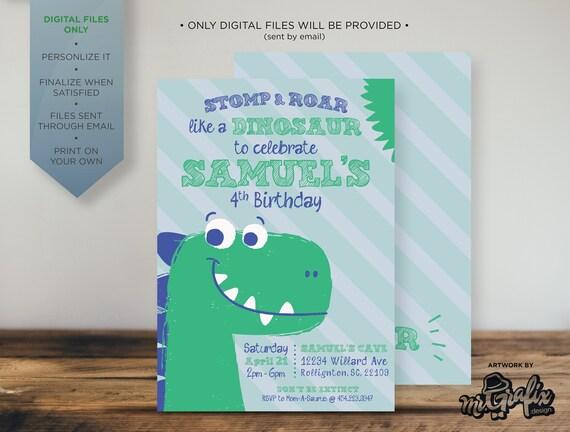 Dinosaur Birthday Invitation Dinosaurs