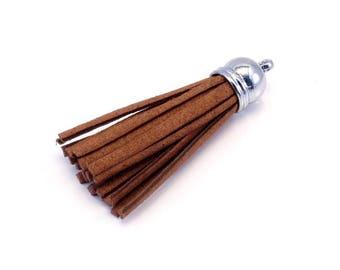 Brown suede tassel