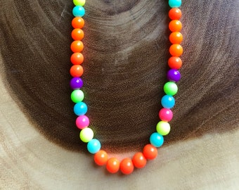 Kids Necklace, Beaded Necklace, Children's Necklace, Children's Jewelry, Birthday Gift, Kids Gift Idea, Handmade, Bright Colors, Gift Idea