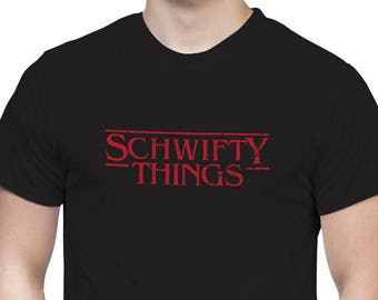 SCHWIFTY Things t-shirt STRANGER THINGS Rick and Morty tee new