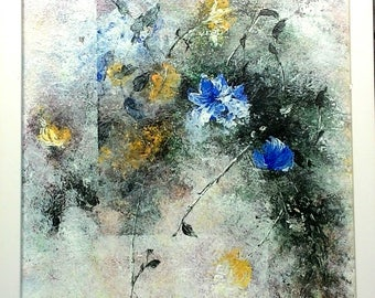 Original Acrylic Abstract Impressionist Palette Knife Painting