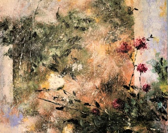 Acrylic Palette Knife Abstract Floral Painting