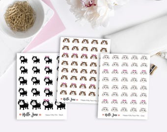 Happy Kitty Range    VARIOUS OPTIONS    Planner Stickers