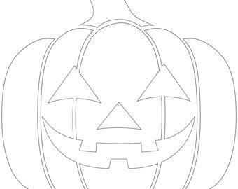 Hand-Drawn Zentangle Jack-O-Lantern Coloring Page Digital ...
