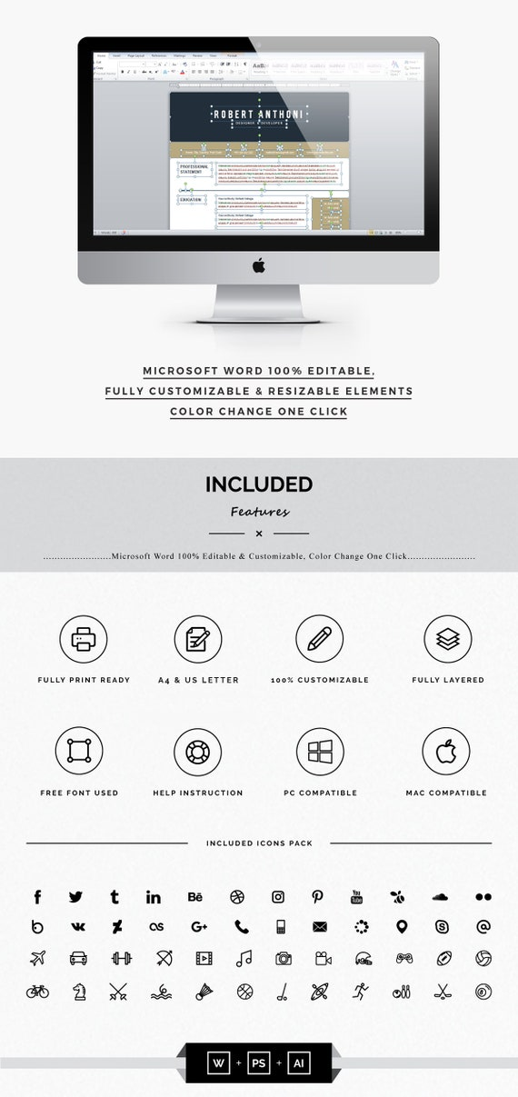Resume Template Professional Word