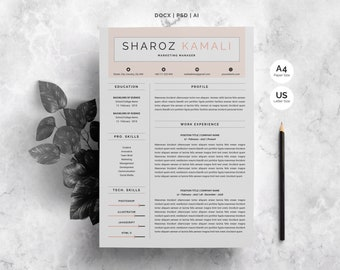 Word Resume | 4 Pages Pack