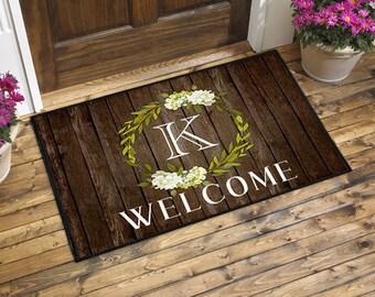 Monogrammed Door Mat, Welcome Mat, Front Door Mat, Front Door Rug, Doormat, Custom Doormat, Personalized Doormat, Housewarming Gift