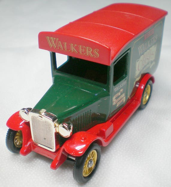 gift for him, Walkers Vintage Models, Lledo cars, 1990, 1920s chevrolet  van, collectible boxed scale diecast model, antique model car, retro