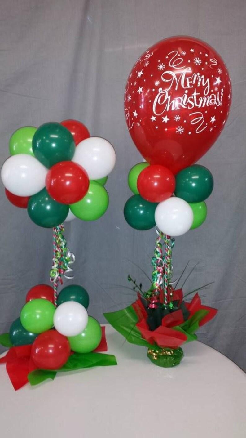 Christmas Party Centerpiece Decoration Ez Diy Balloon Decor Etsy