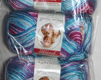 Premier Serenity Garden Yarn. Deborah Norville Serenity Garden. Bouquet color yarn. Multicolor yarn. Crochet yarn. Knitting Yarn