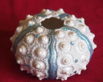 Swarovski Crystal Decorated Sea Urchin Shell  - Large