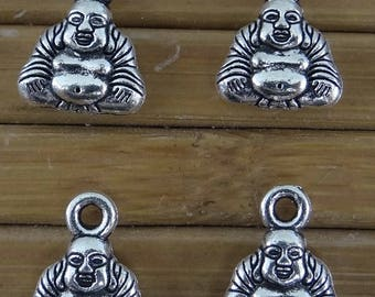 6 x 9.5 mm bc261 12 mm antique silver Buddha charms