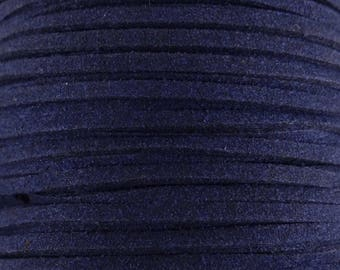 5 Metters cfd008 Navy blue color suede imitation suede cord