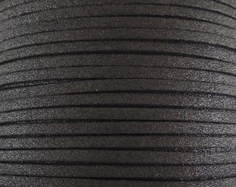 5 Metters black glittery N109 color suede imitation suede cord