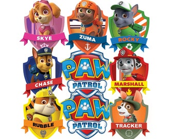 24 PAW PATROL toppers. Paw Patrol Cup Cake toppers 24 different designs Birthday Party. Paw Patrol Clipart Birthday Cup cake toppers.