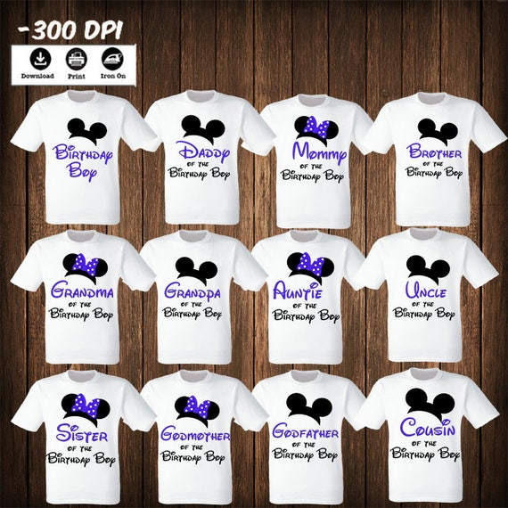 CHRISTMAS BOX IRON ON TRANSFER CUTE MICKEY OR MINNIE  TO CREATE  T SHIRTS BAGS