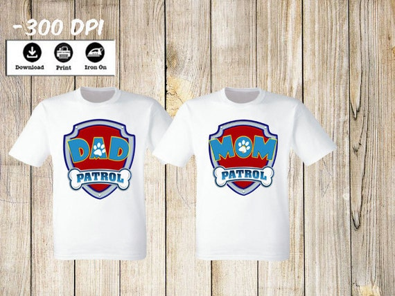 6d1fc49f Paw Patrol Mom and Dad iron on transfers Paw Patrol Family | Etsy