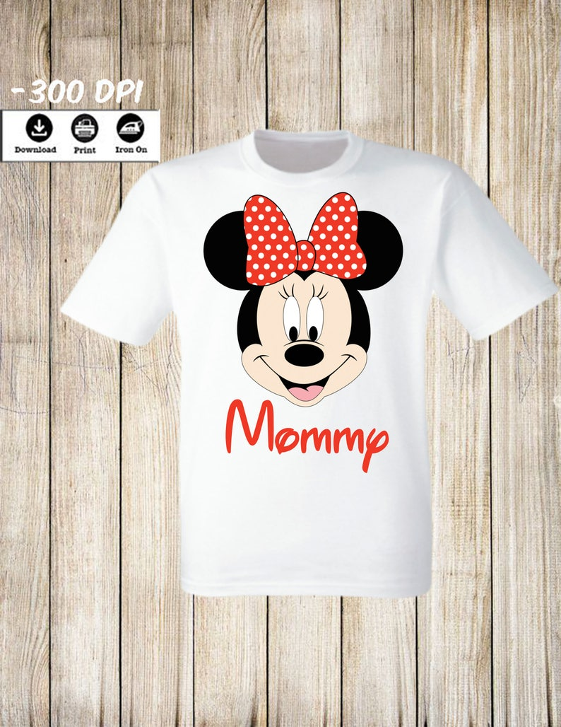 Mickey mouse family set. Mickey Mouse Mommy of the Birthday Girl Mickey Mouse Birthday T-Shirt Minnie Mouse Birthday Boy Iron On Transfer
