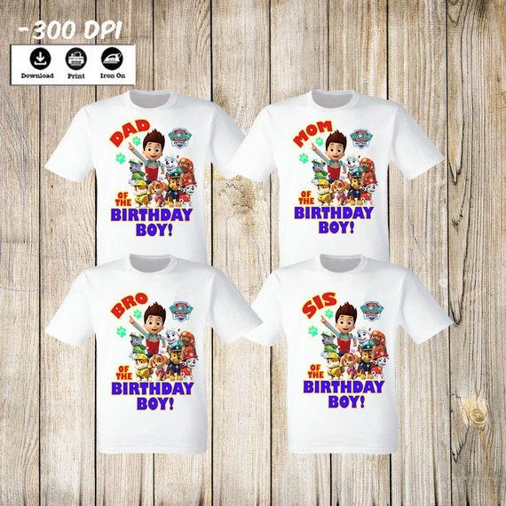 Family Birthday Shirts Girl Shirt Set For Grandma Grandpa And The