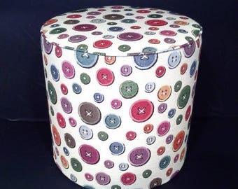 Ottoman fabric pattern multicolored buttons 2124