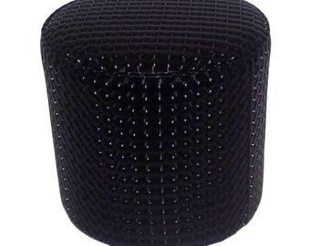 Pouf plain pattern 3014 black 3D leatherette