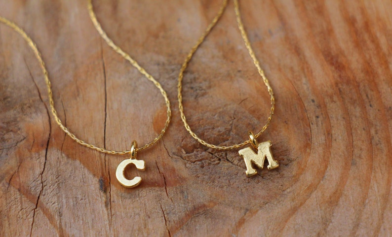 802d79bb94d Gold Filled Initial Necklace, Personalized Letter Necklace, Tiny Initial  Charm Pendant, Thin Minimalist Women Girls Jewelry, Gift For Her