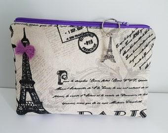 Soft cotton pouch and linen 100% Paris