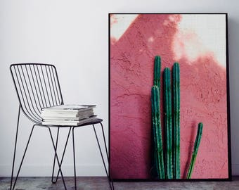 50%OFF,  Cactus Print Cactus Wall Art Modern Poster Cactus Decor Printable Digital Download Art Instant Download