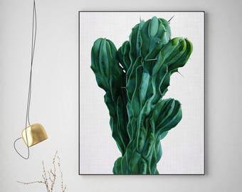 50%OFF,  Cactus Print Cactus Wall Art Modern  Poster Modern Decor Printable Digital Download Art Instant