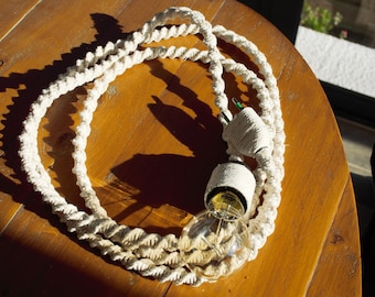 Pretty braided. Wandering lamp