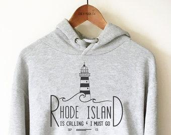 Rhode-Island State Pride USA Map Hoodie