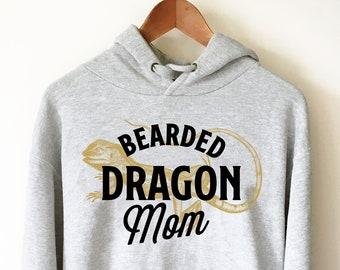 fc42a6a74 Bearded Dragon Mom Hoodie - Bearded Dragon Shirt, Bearded Dragon Gift,  Reptile Shirt, Reptile Gift, Beardie, Reptile Lover