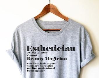1234360e Esthetician Unisex Shirt - Beauty Magician, Esthetician Gift, Makeup Artist  Shirt, Cosmetology Tshirt, Beauty Industry Tee, Salon Shirts