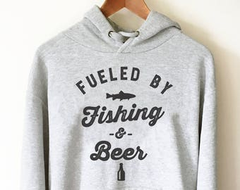 dc12447d8 Fueled By Fishing And Beer Hoodie - | Fishing Gift | Fisherman | Fisherman  shirt | Fishing gifts | Funny fishing hoodie | Fly Fishing
