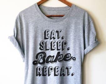 0a2bec19 Eat Sleep Bake Repeat Unisex Shirt | Baking Shirt | Gifts For Bakers |  Cupcakes Shirt | Funny Shirts | Baking Gifts | Funny Baking Tee