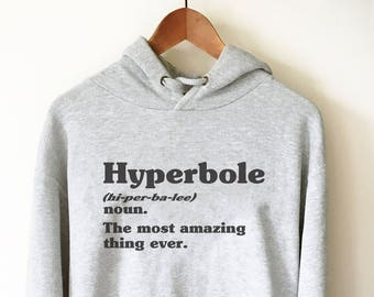 880111bf04b Hyperbole Dictionary Definition Hoodie - Book Lover T Shirts
