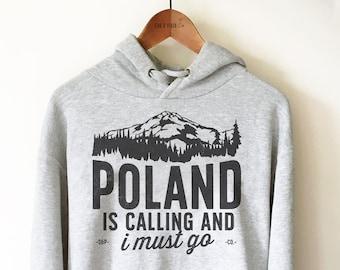 Poland Country Polska Script Football Team Soccer Heritage POL Hoodie Sweatshirt