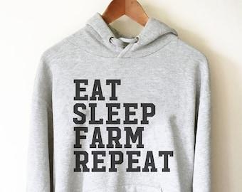 Ideal Gift Christmas Birthday Eat Sleep Farm Repeat Farming Novelty Keyring