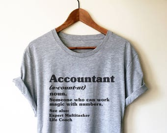 ecff2a13 Accountant Definition Unisex T-Shirt - Accountant Shirt, Accountant Gift,  Accountant, Accounting Degree, Accountant Jokes