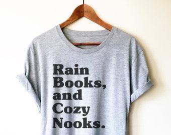 ceeb46be Rain Books And Cozy Nooks Unisex Shirt - Bookworm Shirt, English Major  Graduation Gift, English Teacher Shirt, Teacher Appreciation Gift