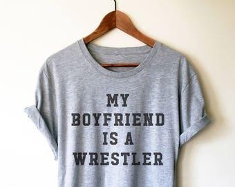 0ae6bcce2 My Boyfriend Is A Wrestler Unisex Shirt - Wrestling, Wrestler, Wrestling  Fan, Wrestling T-Shirt, Wrestling Shirt, Wrestling Girlfriend